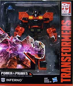 HASBRO TRANSFORMERS GENERATIONS POWER OF THE PRIMES VOYAGER CLASS INFERNO